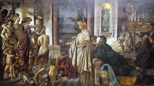 """""""O Banquete de Platão"""" (1874), de Anselm Feuerbach"""