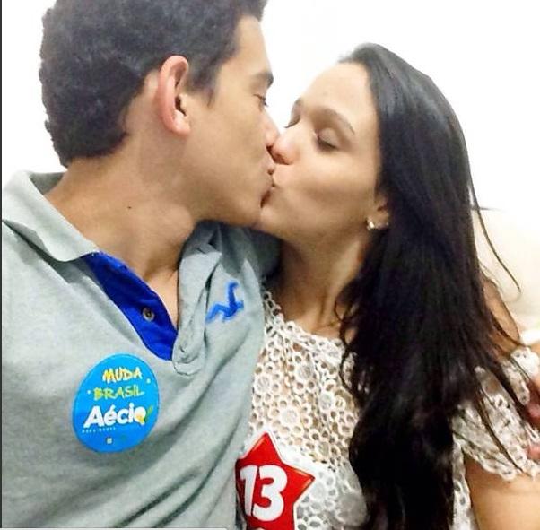 O casal  Ian Felipe Barbosa e Camila Isabela Ramos (Reprodução)