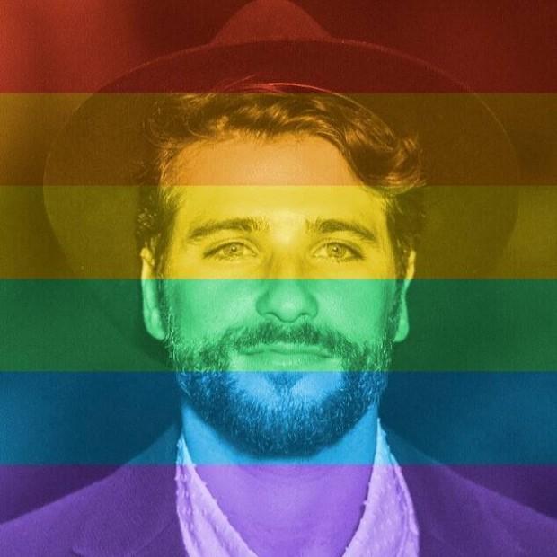 O ator Bruno Gagliasso apoiando os LGBTS (Reprodução/Facebook)