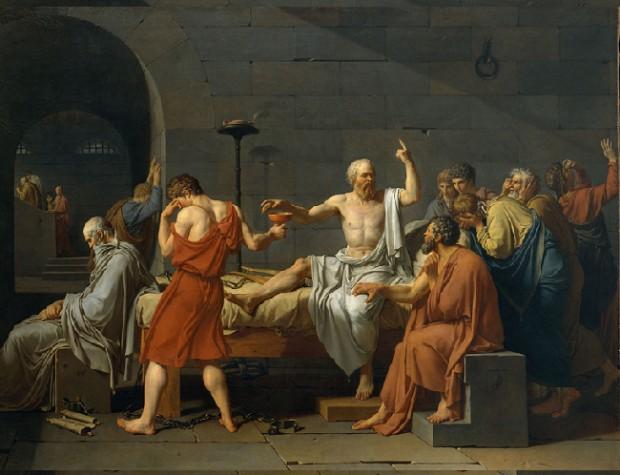 """""""A Morte de Sócrates """", do pintor francês  J.L. David (Reprodução)"""
