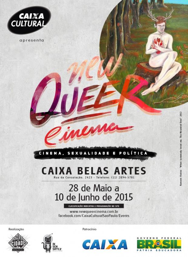 """Cartaz da mostra """"New Queer Cinema – Cinema, Sexualidade e Política"""" (Divulgação)"""